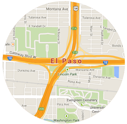 El Paso Garage Door Service Areas