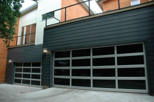 contemporary style glass garage door el paso tx